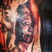 Game gets tattoo of Nelson Mandela