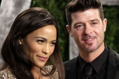 Robin Thicke and wife Paula Patton