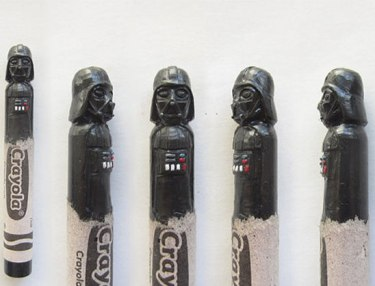 Pop Icons Carved Out Of Crayons By Hoang Trang