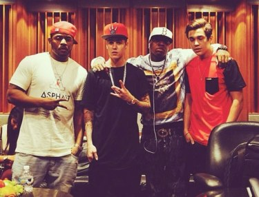 Justin Bieber, Mack Maine and Birdman