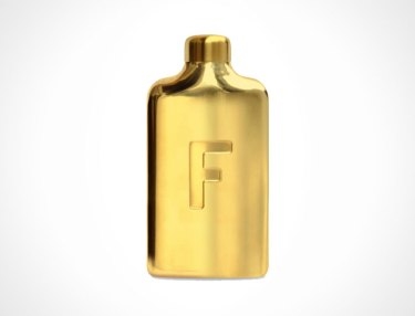 14 Carat Gold Fred Water Flask