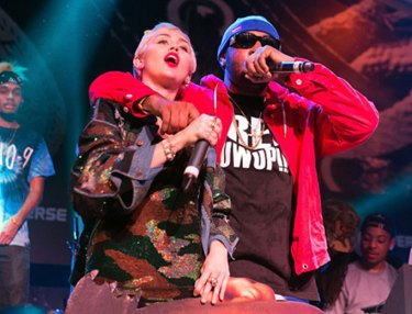 Mike WiLL Made-It and Miley Cyrus at Fader Fort 2015