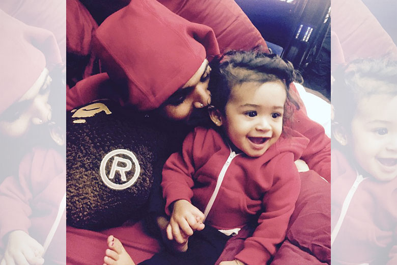 Chris Brown with daughter Royalty