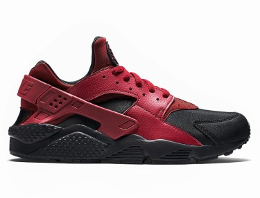 Nike Air Huarache Run Premium Black/Gym Red