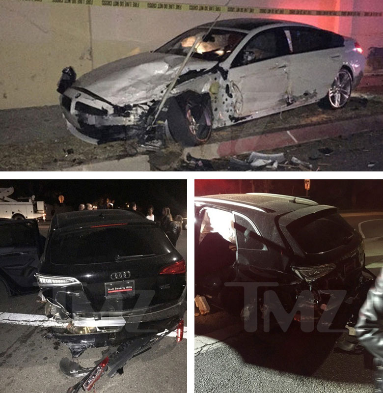 Blac Chyna's BMW crash