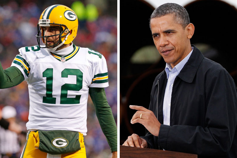 Aaron Rodgers and President Obama