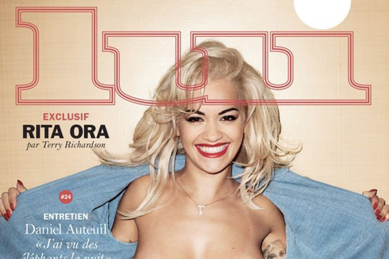 Rita Ora Goes Topless For Lui Magazine