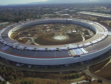 Apple Campus 2 shot in 4K Drone