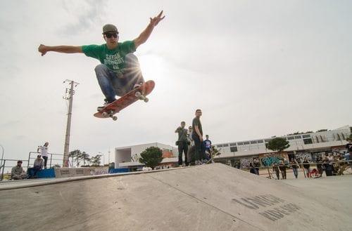 skateboarding shot