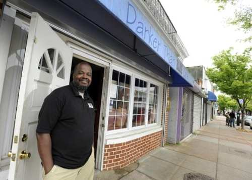 Casey Jenkins, Owner of Darker Than Blue Cafe. Photo by Steve Ruark.