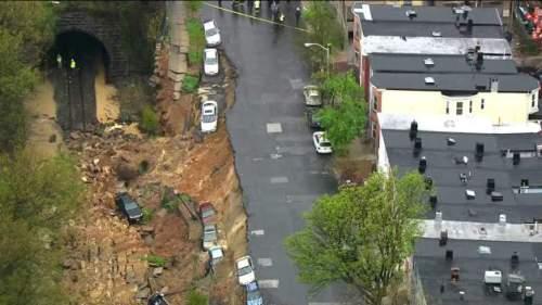 Charles Village's 26th Street landslide