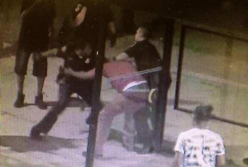 surveillance video of a violent Baltimore arrest