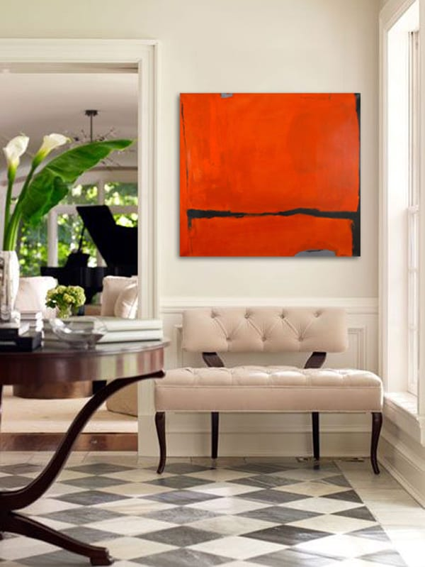"""Obtineo"", Acrylic on Canvas, 70.25 x 78 in."