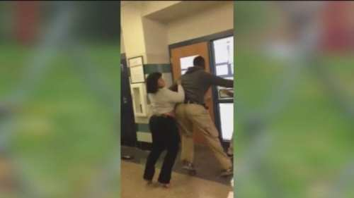 student-teacher brawl