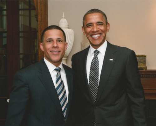 Anthony Brown is happy to have Obama by his side (via Astute Magazine)