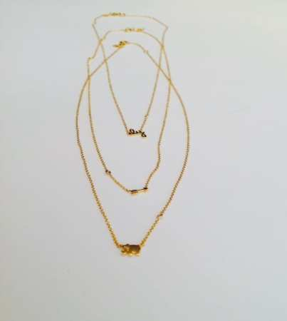 Shy by Sydney Evans - Necklace with Assorted Charms and Diamond Accent $125-150 - Girl Next Door