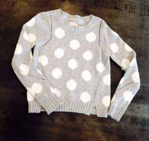 Townsen - Polka Dot Sweater in Gray & White $220 - Girl Next Door