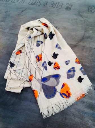 Yarnz - Butterfly Scarf 100% Cashmere $235