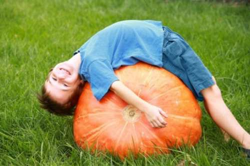 Kid and Pumpkin