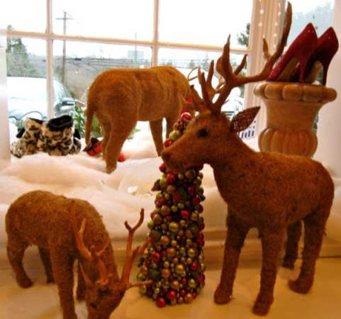 Coir Reindeer - These decorative pieces for the home are made in Scandinavia and come in large, medium and small sizes.  Use them to decorate your home or to give as a hostess gift!
