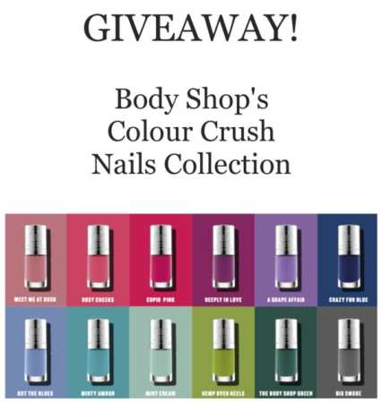 """Body Shop's """"5-free"""" Colour Crush Nails collection leaves out 5 nasty chemicals."""
