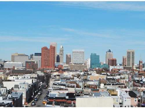 The spectacular view from the rooftop deck at 2 East Wells is second to none!