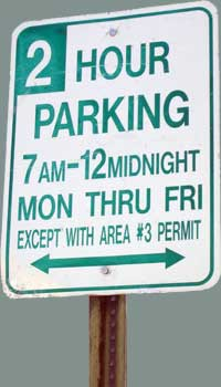 Permit Parking sign in Bolton Hill.