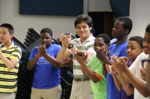 Gilman junior Nirakar Pandey - Event organizer