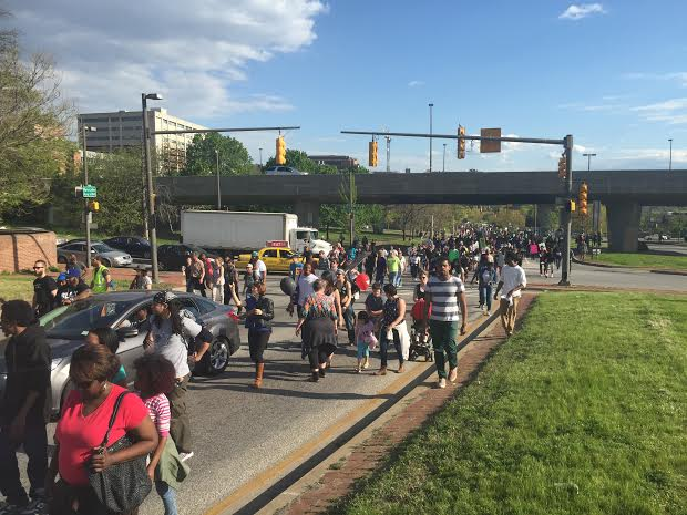 Peaceful march on MLK Blvd., Sat., May 2.