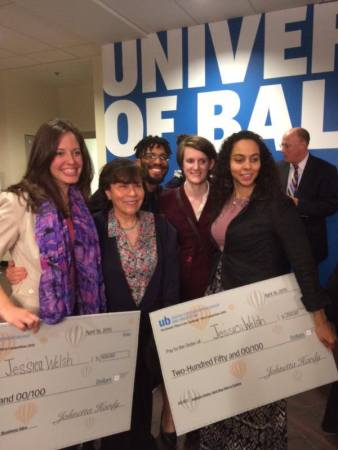 Sounding Sea's founders after their University of Baltimore pitch competition win.