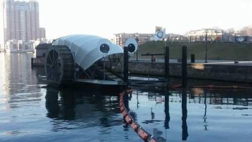What lovely eyes you have, Mr. Trash Wheel.