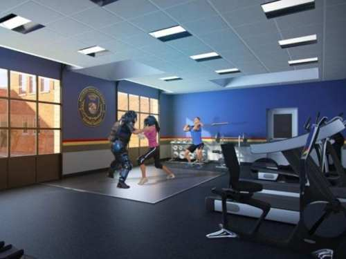 Artist's rendering of a new training facility.