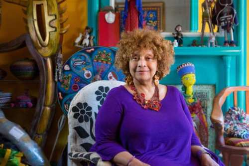 Artist Joyce J. Scott at her home in Baltimore, Maryland, Monday, September 12, 2016. (Credit: John D. and Catherine T. MacArthur Foundation)