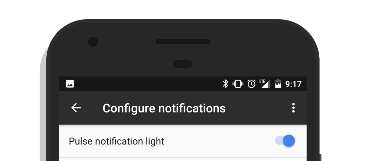 How to turn on notification led light Google Pixel