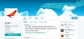 Welcome to Twitter, Air India @airindiain