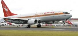 "Photos: Qantas newest Boeing 737-800 ""Retro Roo"" in 1970s retro livery"