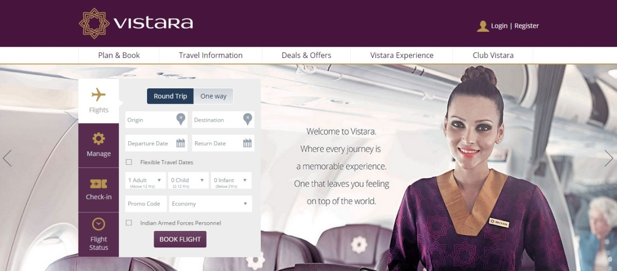 Vistara to fly on 9th January 2015