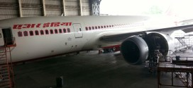 Air India Boeing 787-8 Dreamliner VT-AND grounded for nine months in a maintenance hangar at Mumbai
