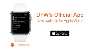 DFW Airport becomes first U.S. airport to launch Apple Watch App (PRNewsFoto/DFW International Airport)