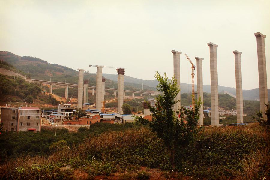 Autoroute en construction