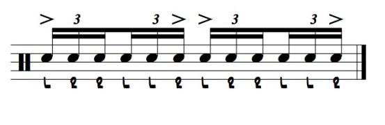the backwards six stroke roll illustration