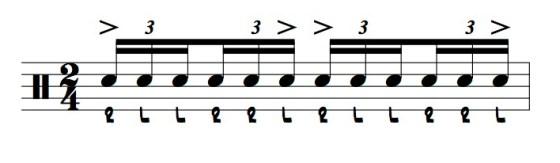 the six stroke roll illustration