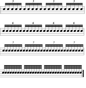 rhythmic control three illustration