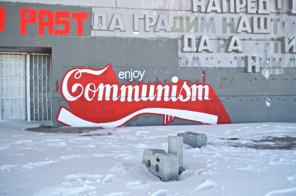 Enjoy Communism! Photo: Caroline Trotman