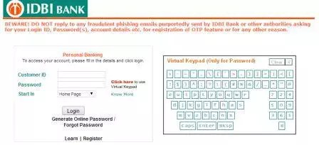 idbi bank account no format