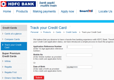 Check HDFC Credit Card Status Online | Track Application Status