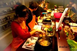 Participants atelier en pleine action