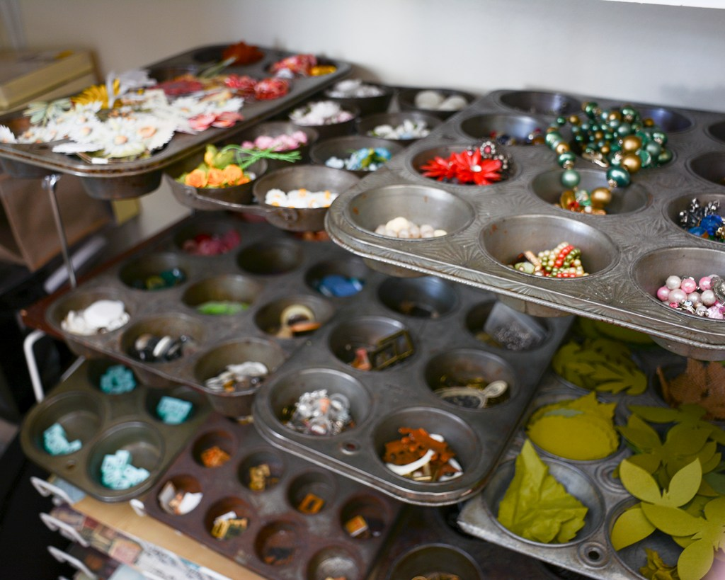Muffin Tins make great storage solutions for buttons and such