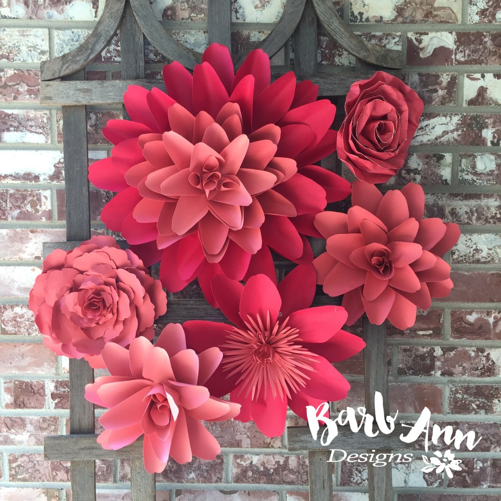 large pink paper flowers wm