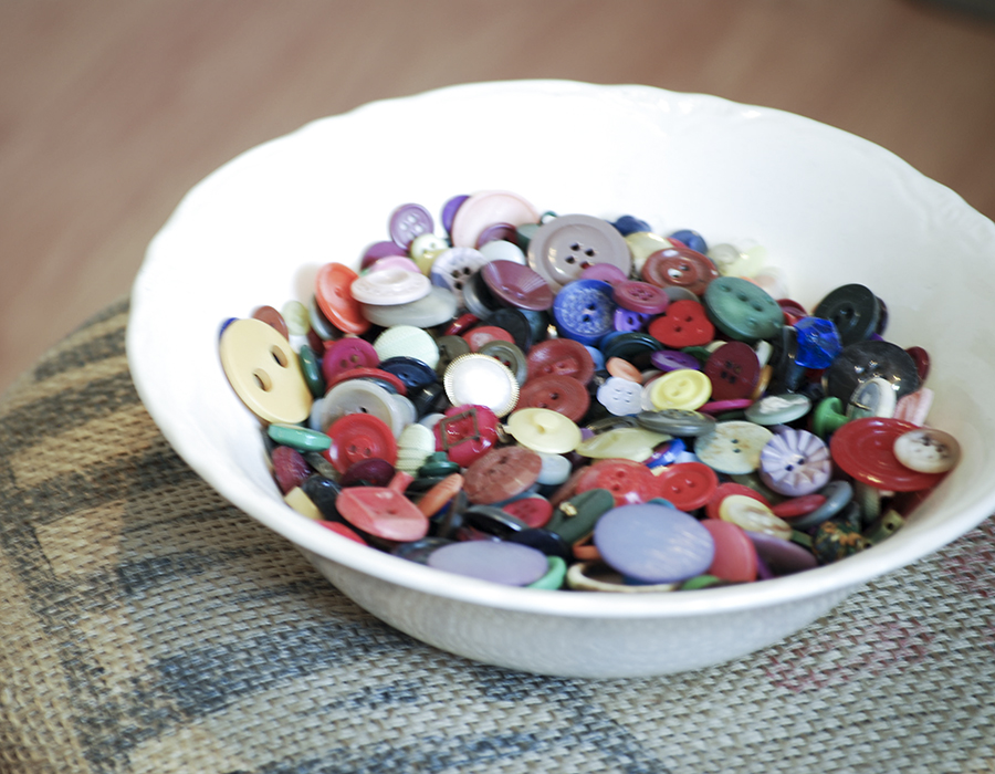 bowl of buttons | Barb ann Designs |